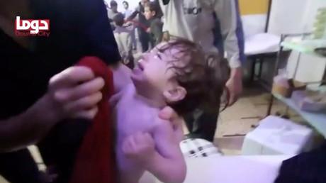 Szene aus einem Video vom 7. April 2018, aufgenommen im Krankenhaus in Duma.