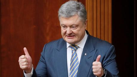 Der ukrainische Präsident Petro Poroschenko bei einer Parlamentssitzung in Kiew, 6. März 2019.