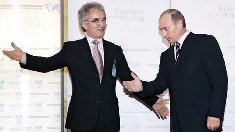 Teltschik, damals Chef der Münchner Sicherheitskonferenz, mit Wladimir Putin im Februar 2007