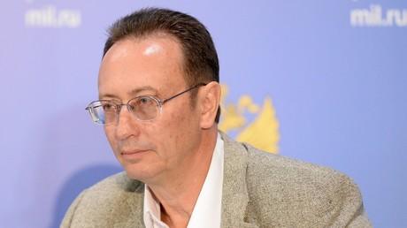 Der Direktor der Abteilung für Nichtverbreitung und Rüstungskontrolle des russischen Außenministeriums, Wladimir Ermakow, bei einer Pressekonferenz.