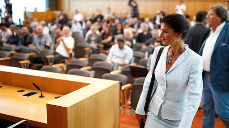 Will nicht erneut Fraktionschefin der Linken werden: Sahra Wagenknecht während einer Pressekonferenz der