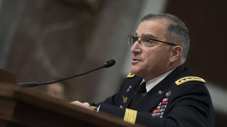 Der US-General und Oberbefehlshaber aller NATO-Streitkräfte in Europa: Curtis Scaparrotti im März 2018