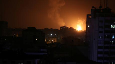 Israelische Luftangriffe auf Gaza, 15. März 2019.