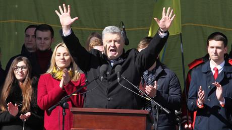 Der ukrainische Präsident Petro Poroschenko während einer Wahlveranstaltung.