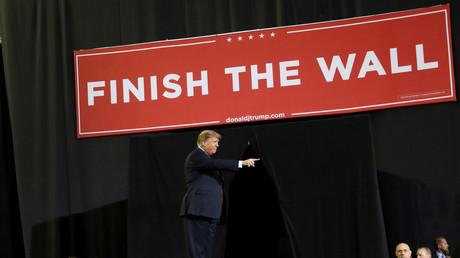 US-Prösident Donald Trump wirbt für die Mauer, Texas, USA, 11. Februar 2019.