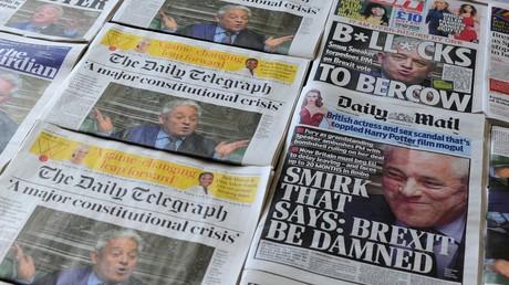 Britische Zeitungen vom 19. März sind voll mit Artikeln über die Erklärung des Parlamentssprechers, dass weitere
