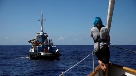 Retterin Anabel Montes an Bord des britischen NGO Schiffes