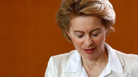 Bundesverteidigungsministerin Ursula von der Leyen während der wöchentlichen Kabinettssitzung in Berlin, Deutschland, am 20. März 2019.