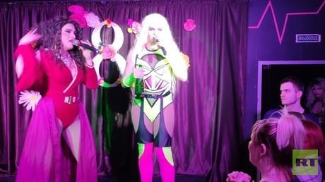 Nachtleben in Tjumen: Drag-Show im örtlichen Gay Club.