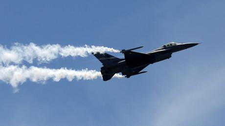 Ein F16-Kampfjet der pakistanischen Luftwaffe.