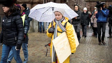 Gruta Thunberg, Stockholm, Schweden, 15. März 2019.