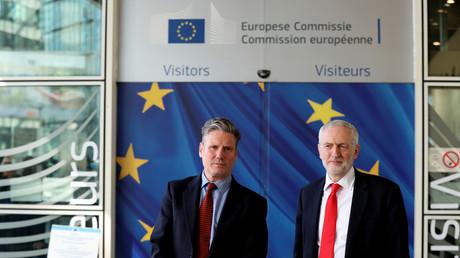 Jeremy Corbyn von der Labour-Partei und der EU-Chefunterhändler für den Brexit, Michel Barnier, Brüssel, Belgien, 21. März 2019.
