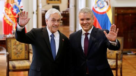 Die Präsidenten von Chile, Sebastián Piñera, und Kolumbien, Iván Duque, in der chilenischen Hauptstadt Santiago de Chile, 21. März 2019.