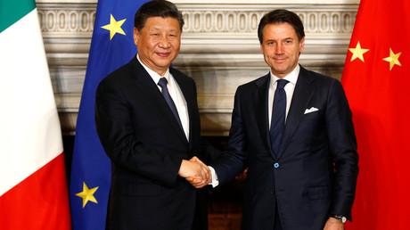 Der chinesische Präsident Xi Jinping und der italienische Premierminister Giuseppe Conte trafen sich am 23. März 2019 in Rom.