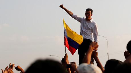 Der selbst ernannte Interimspräsident Venezuelas Juan Guaidó in San Mateo, Anzoátegui, Venezuela, 22. März 2019.