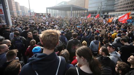 Demonstration gegen die geplante EU-Urheberrechtsreform