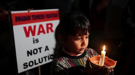 Demonstration für den Frieden, Lahore, Pakistan, 3. März 2019