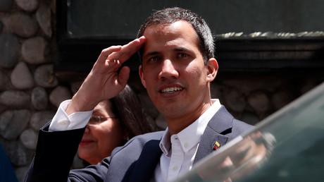 Juan Guaido nach einer Pressekonferenz in Caracas, Venezuela, 21. März 2019.