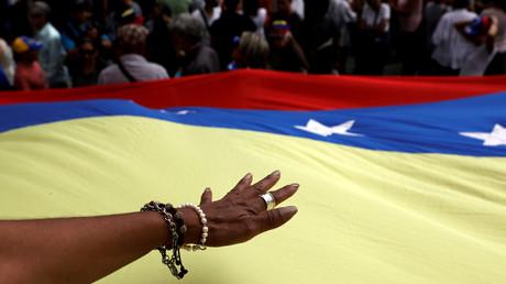 Aufnahme während einer Demonstration am 12. März 2019 in Caracas.