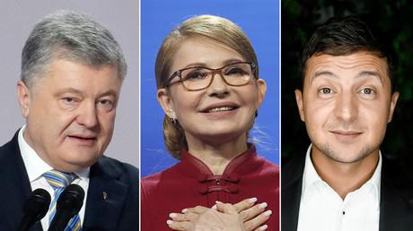 Petro Poroschenko, Julia Timoschenko, Wolodymyr Selensky.