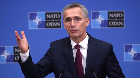 NATO-Generalsekretär Jens Stoltenberg, hier auf einer Pressekonferenz über den Jahresbericht des Bündnisses am 14. März 2019 in Brüssel, sieht die Bombardierung Jugoslawiens 1999 als berechtigt.