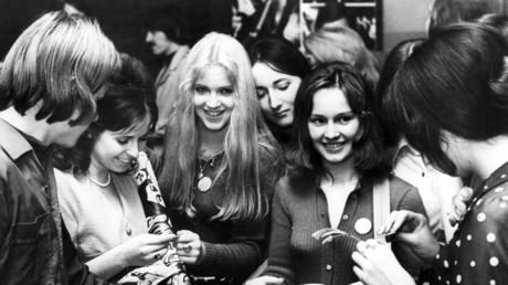 Aufnahme während den Vorbereitungen für 10. Weltjugend- und Schülerfestivals in Berlin, DDR, am 1. Mai 1973.