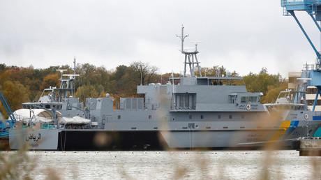 Ihre Ausfuhr wurde gestoppt: Für Saudi-Arabien gebaute Küstenschutzschiffe in der Lürssen-Werft in Wolgast
