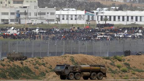 Palästinenser im Gazastreifen demonstrieren zum
