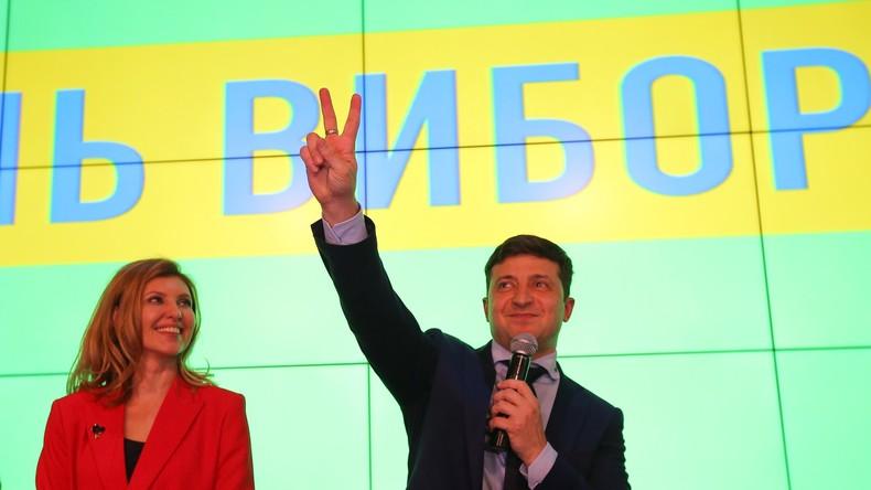 Ukraine-Wahl: Komiker Wladimir Selenskij nach ersten Ergebnissen deutlich vorn