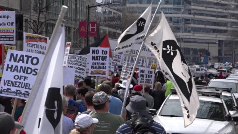"""USA: Hunderte protestieren gegen NATO – """"Dient nur zur gewaltsamen Durchsetzung der US-Interessen"""""""