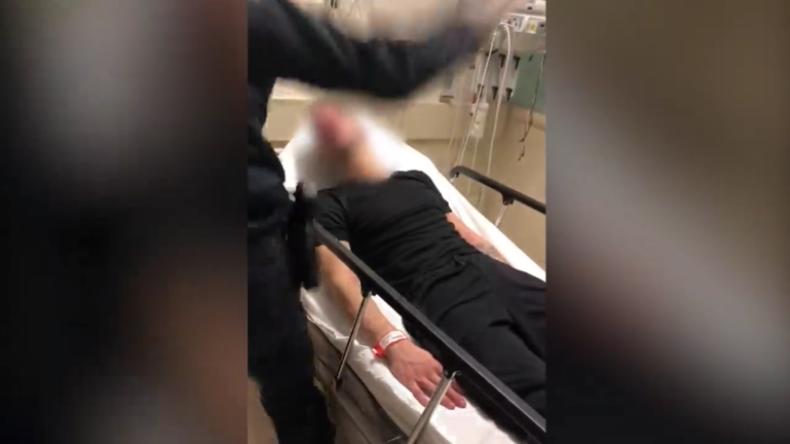 USA: Krimineller Polizist schlägt Mann nach Suizidversuch brutal ins Gesicht