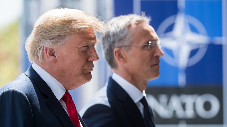 LIVE: Pressekonferenz von NATO-Generalsekretär Jens Stoltenberg und US-Präsident Donald Trump