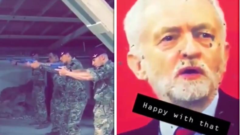 Oppositionsführer Corbyn als Zielscheibe – Video von britischen Soldaten sorgt für Furore