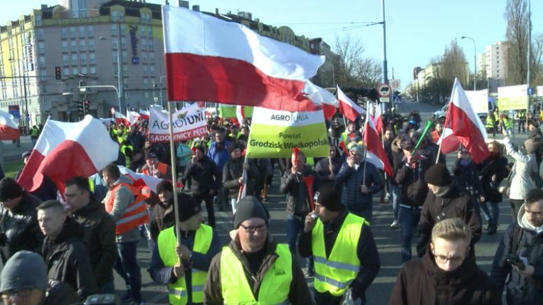 """Polen: """"Das ist erst der Anfang!"""" – Bauern in gelben Westen protestieren gegen Regierungspolitik"""