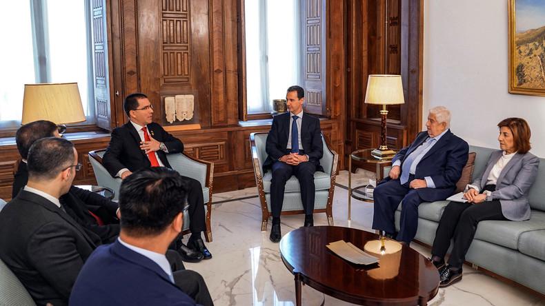 Assad zu venezolanischem Außenminister: Krise in Venezuela ähnelt den Ereignissen in Syrien