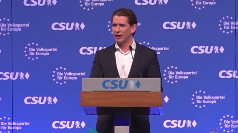 EU-Wahlkampf: Sebastian Kurz wirbt für konservativen EU-Kandidaten Weber