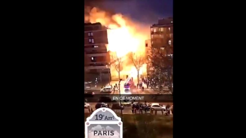 Heftige Explosion in Paris auf Video festgehalten