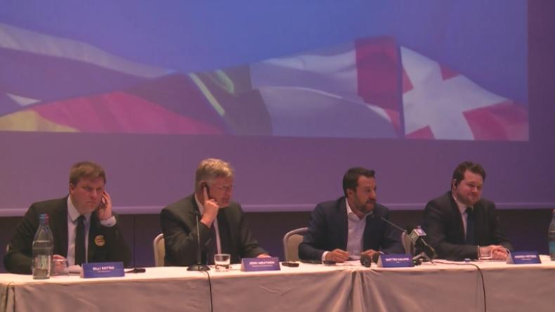 """Salvini, AfD und rechte europäische Parteien wollen """"EU-Fraktion der Nationen"""" gründen"""