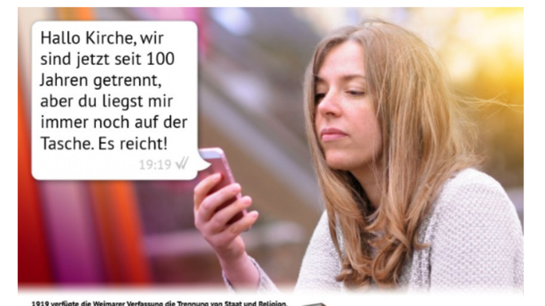 Deutsche Bahn untersagt kirchenkritische Werbung