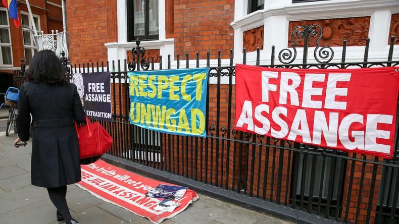 LIVE: Entwicklung an der ecuadorianischen Botschaft nach der Verhaftung von Assange