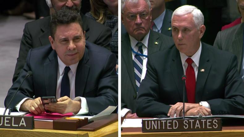 """""""Sie sollten nicht hier sein"""" - Pence an den venezolanischen Botschafter im UN-Sicherheitsrat"""