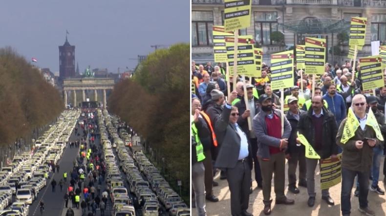 """""""Scheuer ist ein Lobbyist!"""" - Tausende Taxifahrer protestieren gegen Deregulierungspläne"""
