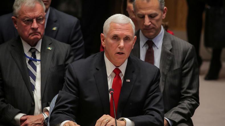 UN-Sicherheitsrat: US-Vizepräsident fordert Rauswurf des venezolanischen Botschafters (Video)