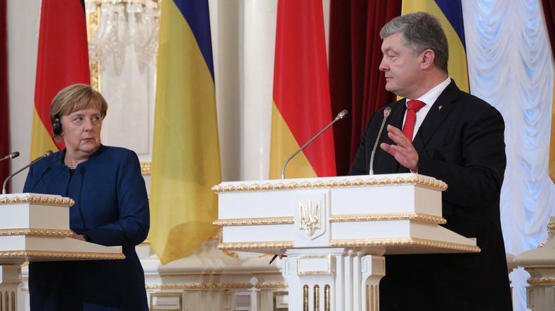 Video: Pressekonferenz von Merkel und Poroschenko in Berlin