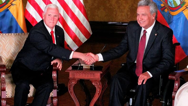 """""""Assange betrieb Zentrum für Spionage"""" - Ecuadors Präsident Moreno kontert Ex-Präsidenten Correa"""