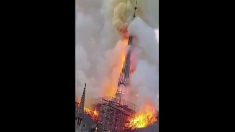 Paris: Kirchturm eingestürzt – Weltbekannte, 700 Jahre alte Kathedrale Notre-Dame brennt lichterloh