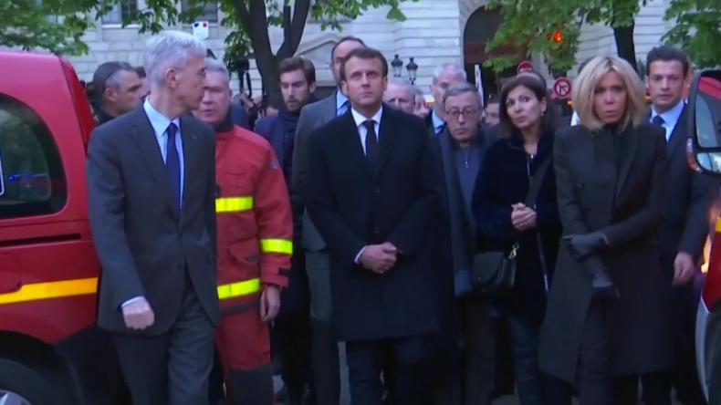 Notre-Dame in Flammen: Macron besucht brennende Kathedrale und sagt dafür Gelbwesten-Treffen ab