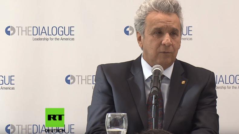 Ecuadors Präsident verneint jeden Zusammenhang zwischen Assanges Verhaftung und IWF-Milliardenkredit