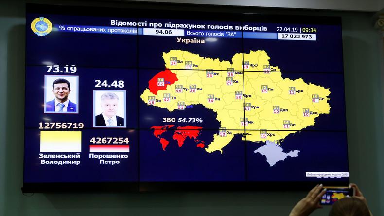 Vorläufige Ergebnisse der Ukraine-Stichwahl: Knappe Dreiviertelmehrheit für Wladimir Selenskij