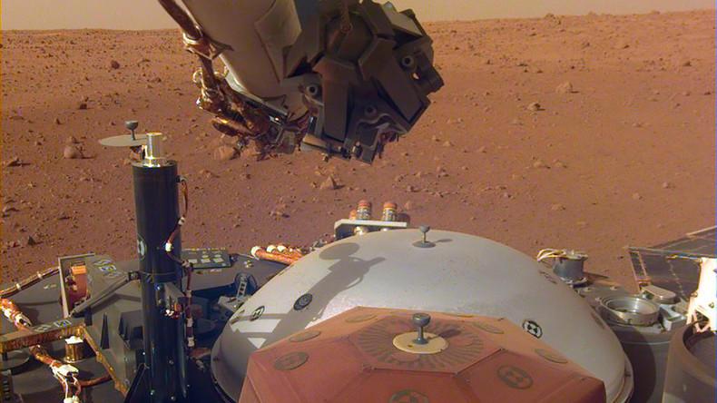 """NASA-Sonde """"InSight"""" zeichnet erstes Mars-""""Beben"""" auf Rotem Planeten auf"""